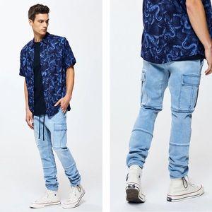 Pacsun | Slim Fit Workwear Denim Cargo Pants